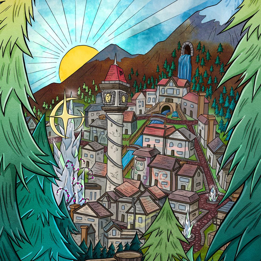 Mannamong World Setting - Graphic Novels for Kids